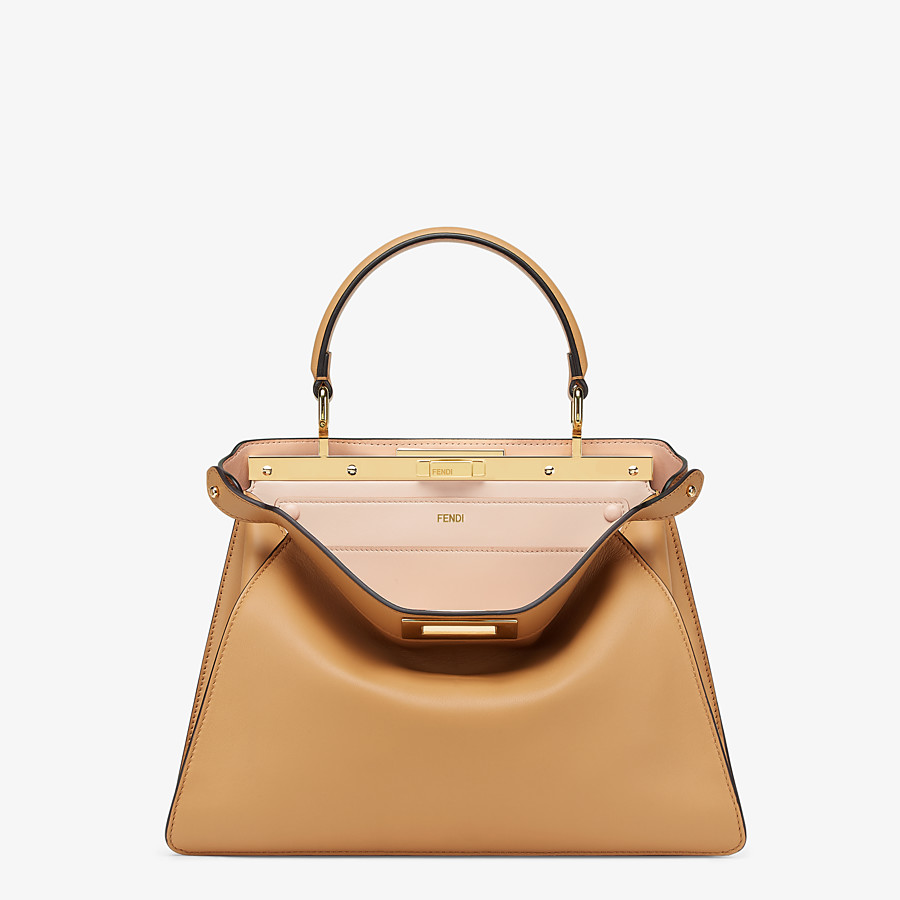 FENDI PEEKABOO ISEEU MEDIUM - Beige leather bag - view 1 detail