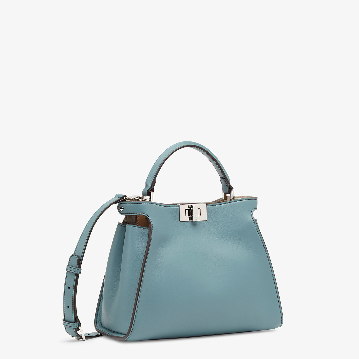 FENDI PEEKABOO ICONIC ESSENTIALLY - Light blue leather bag - view 2 detail