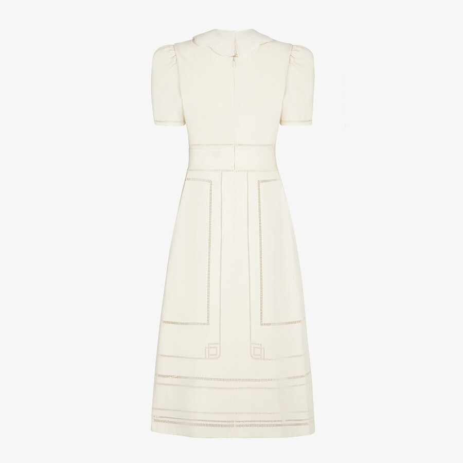 FENDI DRESS - White linen dress - view 2 detail