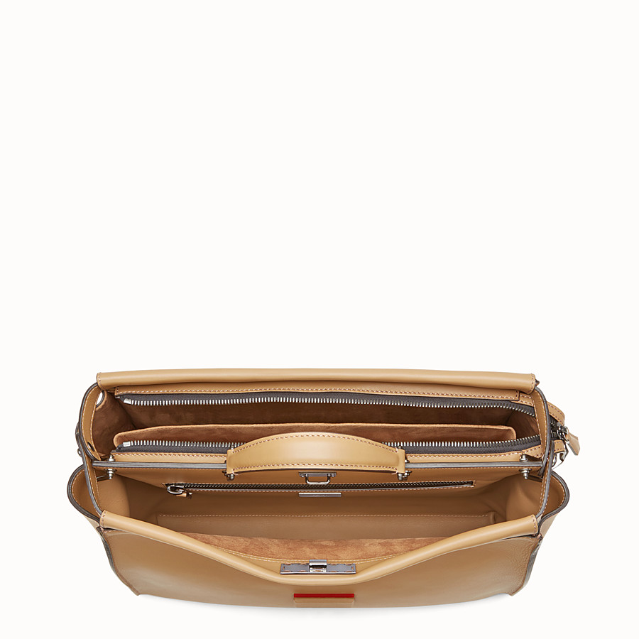 FENDI PEEKABOO - Sand-coloured leather bag - view 4 detail