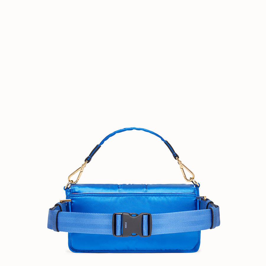 FENDI BAGUETTE FENDI AND PORTER - Blue nylon bag - view 3 detail