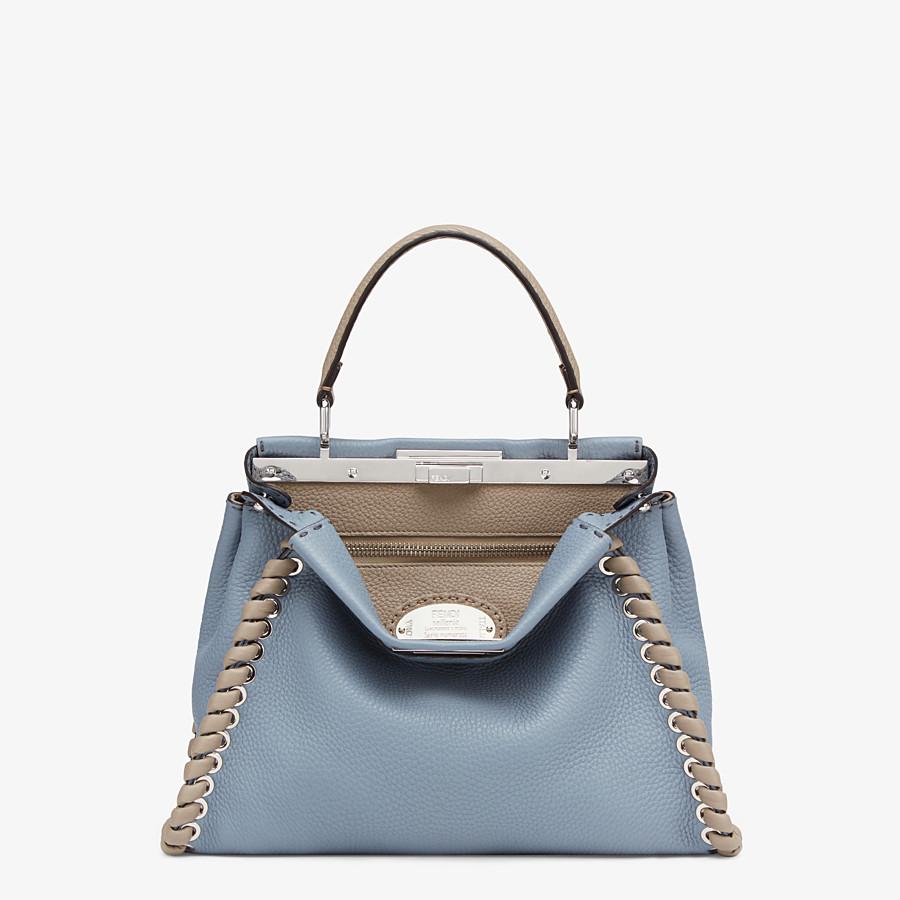 FENDI PEEKABOO ICONIC MEDIUM - Tasche aus Leder in Blau - view 1 detail