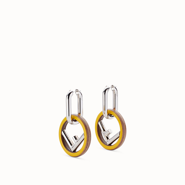 FENDI F IS FENDI EARRINGS - Yellow earrings - view 1 small thumbnail