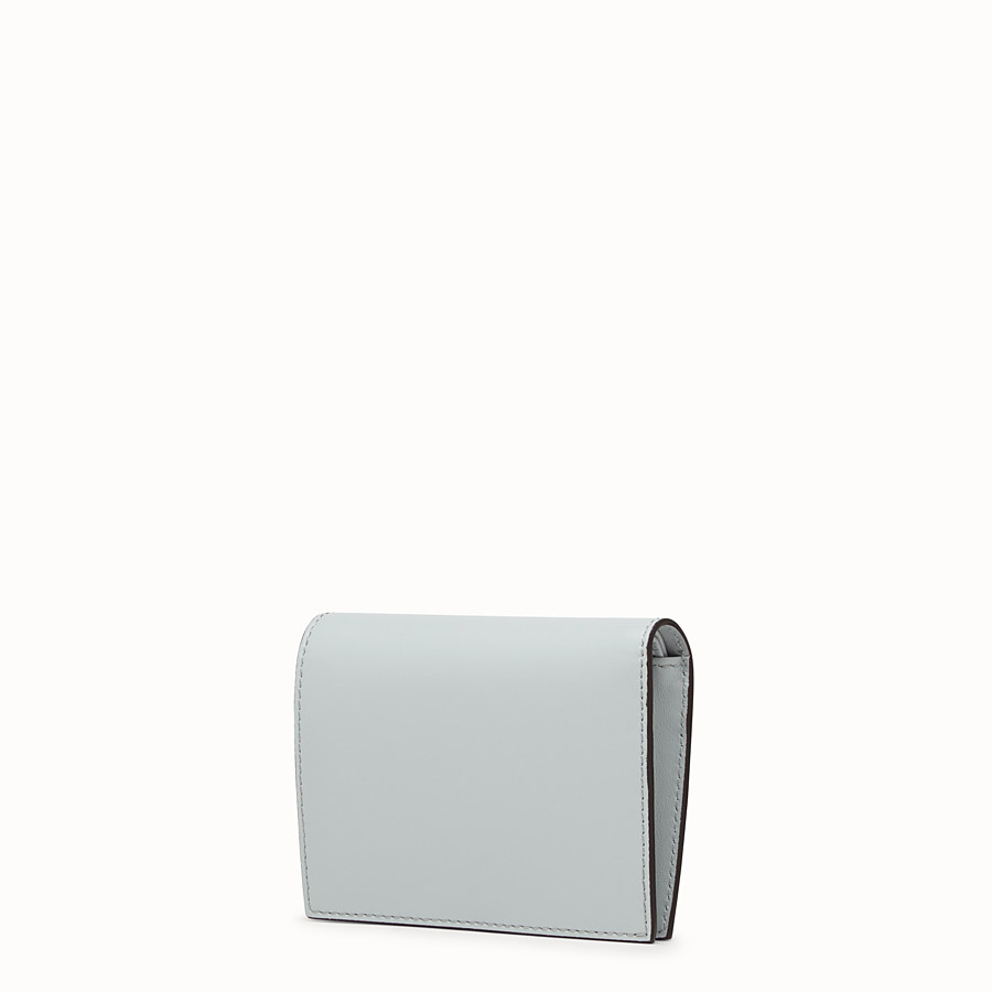 FENDI BIFOLD - Gray leather compact wallet - view 2 detail