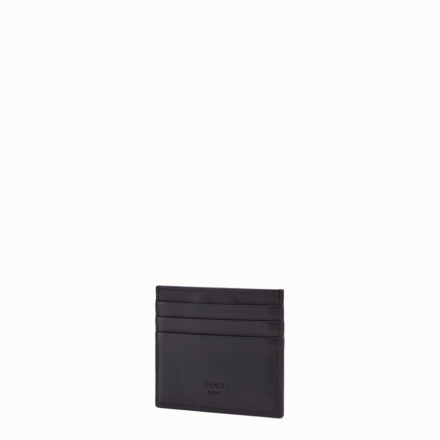 FENDI CARD HOLDER - Black calf leather card holder - view 2 detail
