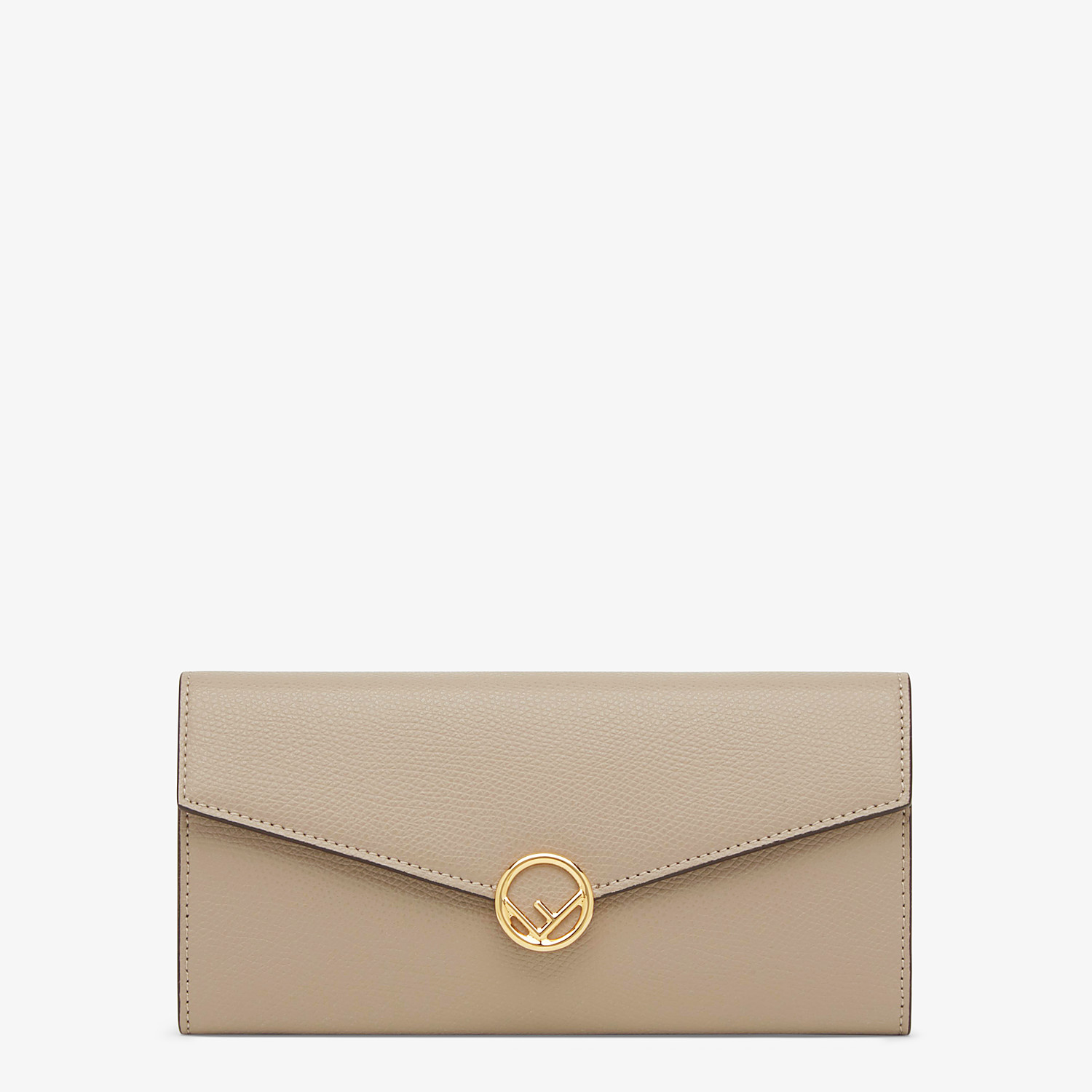 FENDI CONTINENTAL - Beige leather wallet - view 1 detail