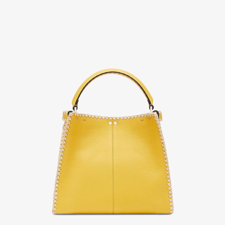FENDI PEEKABOO X-LITE MEDIUM - Yellow leather bag - view 4 detail