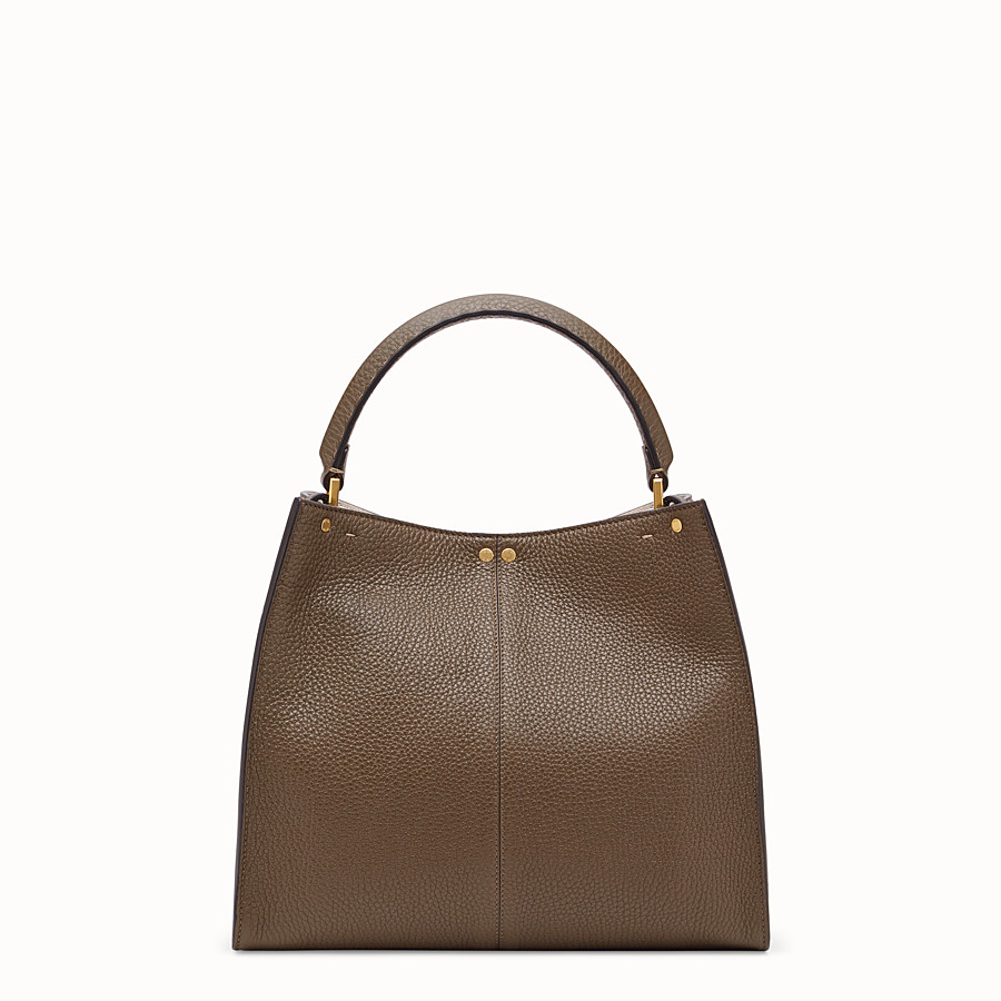 FENDI PEEKABOO X-LITE MEDIUM - Brown leather bag - view 5 detail