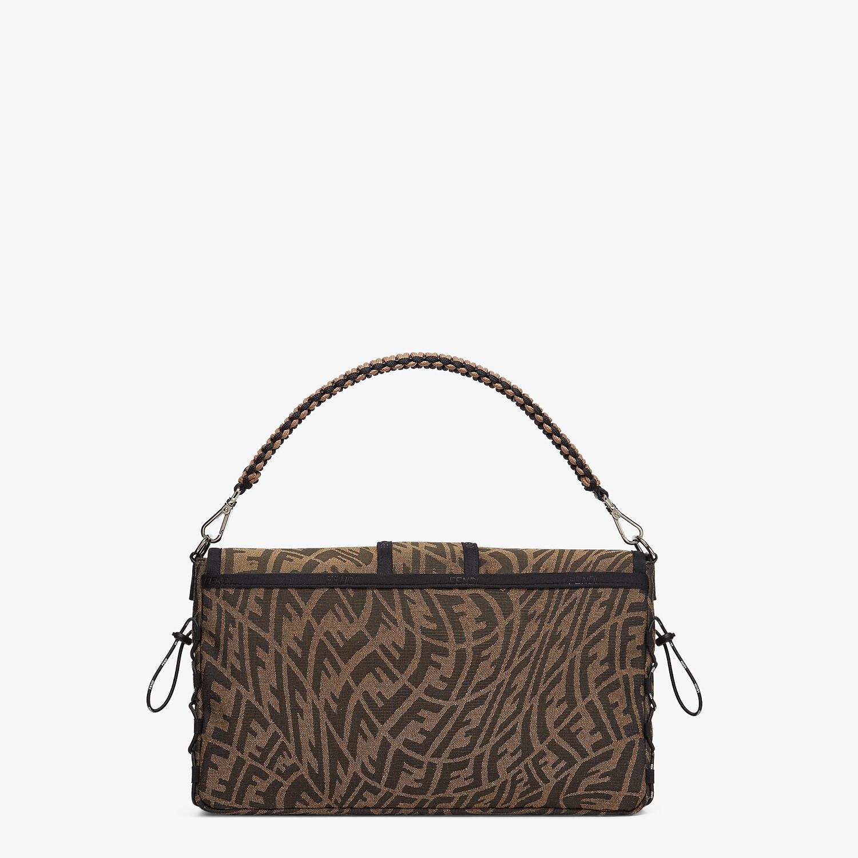 FENDI BAGUETTE LARGE - Brown FF Vertigo fabric bag - view 3 detail