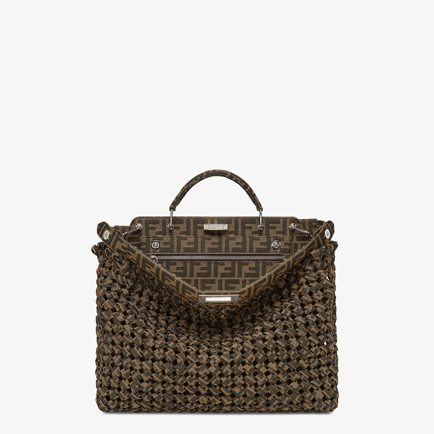 FENDI PEEKABOO ISEEU MEDIUM - Brown fabric bag - view 1 detail