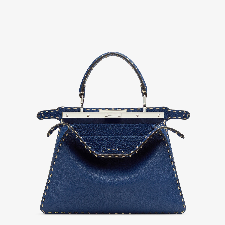 FENDI PEEKABOO ISEEU MEDIUM - Blue full grain leather bag - view 2 detail