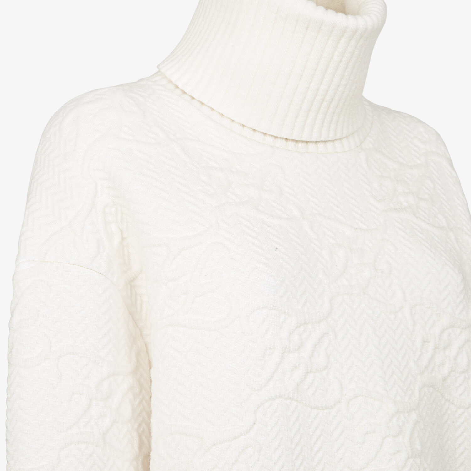 FENDI SWEATER - White wool and cashmere sweater - view 3 detail