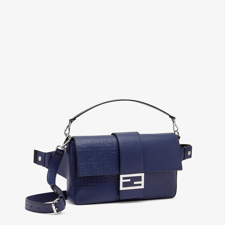 FENDI BAGUETTE LARGE - Blue calf leather bag - view 2 detail
