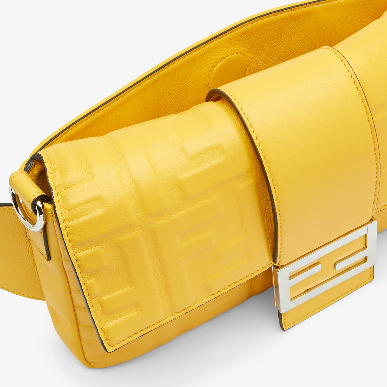 FENDI BAGUETTE - Yellow nappa leather bag - view 6 detail