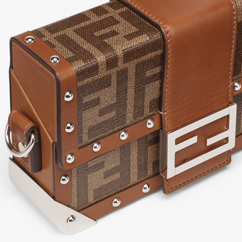FENDI BAGUETTE TRUNK MINI - Brown fabric bag - view 5 detail