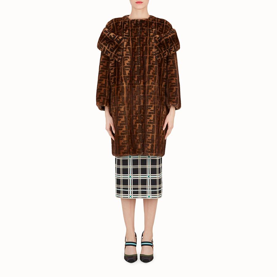 FENDI COAT - Printed mink coat - view 1 detail