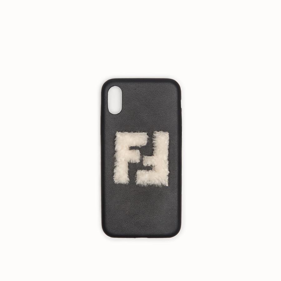 FENDI iPHONE X CASE - Black case - view 1 detail