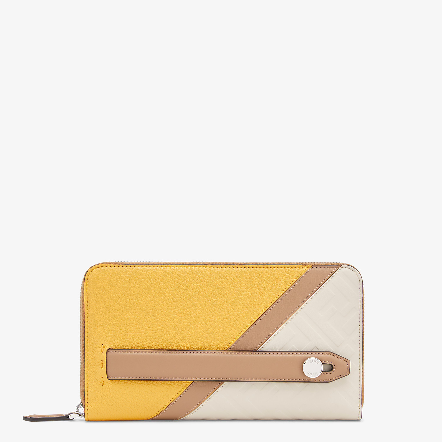 FENDI CONTINENTAL - White leather wallet - view 1 detail