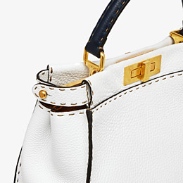 FENDI PEEKABOO ICONIC MEDIUM - White leather bag - view 6 thumbnail