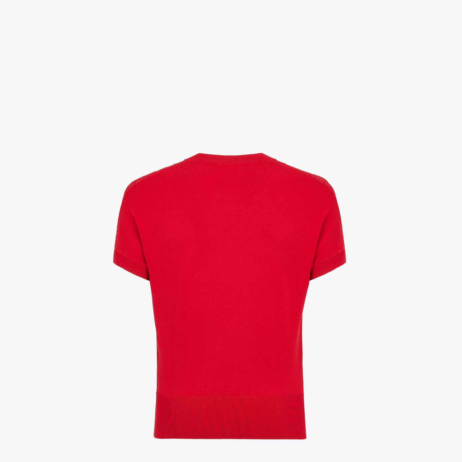 FENDI T-SHIRT - Red viscose T-shirt - view 2 detail
