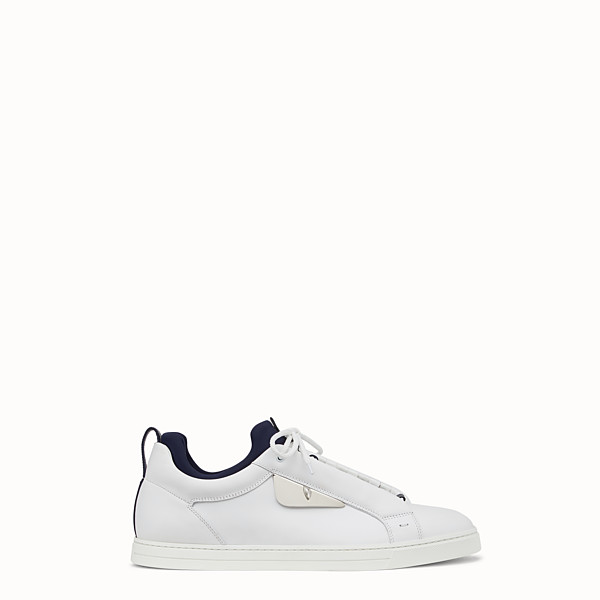 FENDI SNEAKER - Low top in pelle nera - vista 1 thumbnail piccola