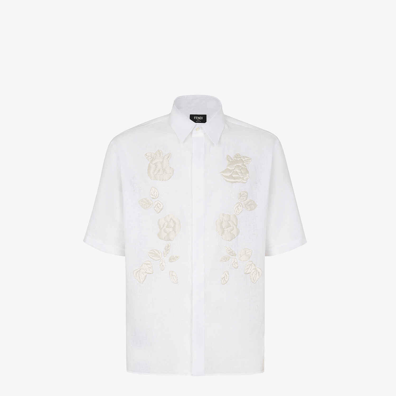 FENDI SHIRT - White linen shirt - view 1 detail