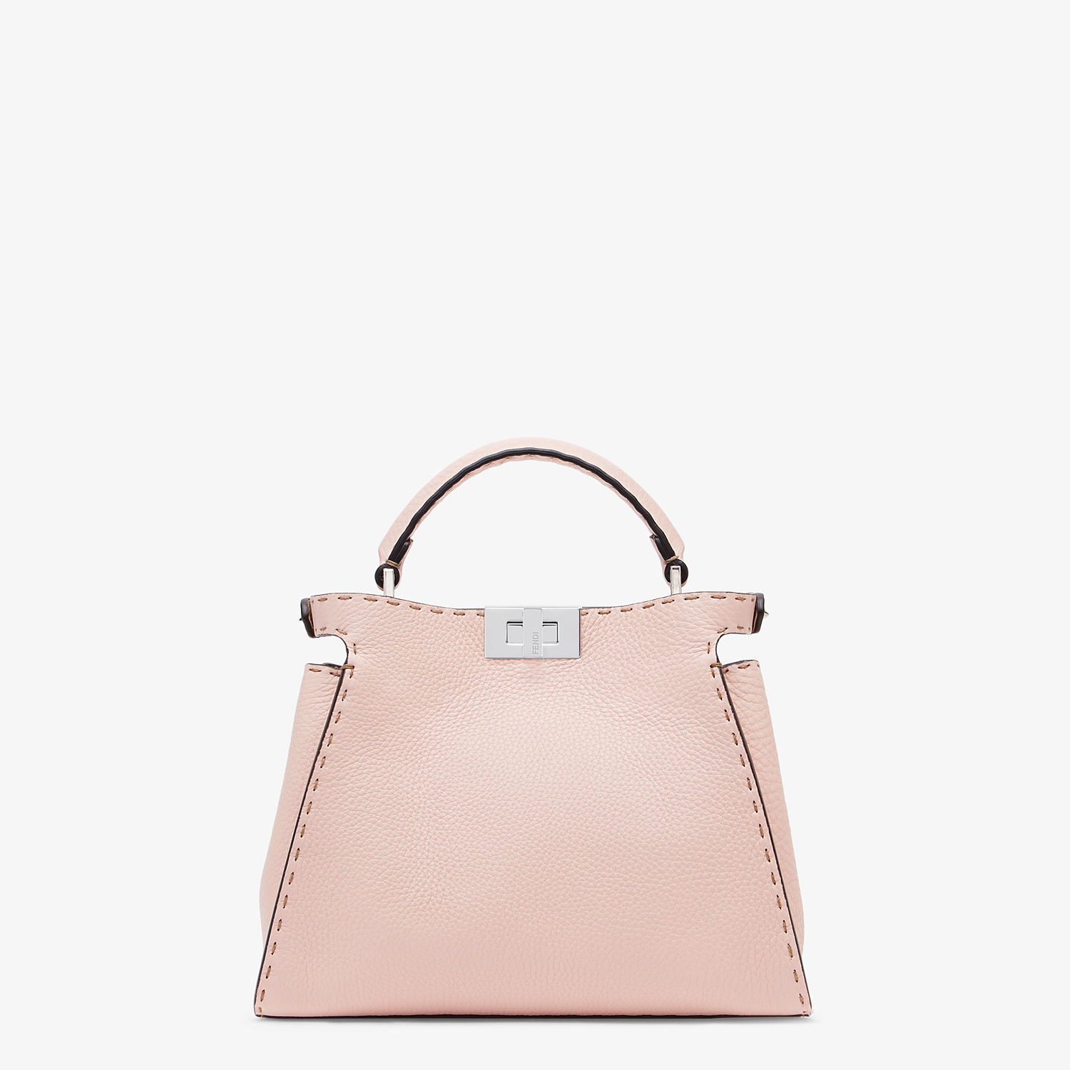 FENDI PEEKABOO ICONIC ESSENTIALLY - Pink leather bag - view 3 detail