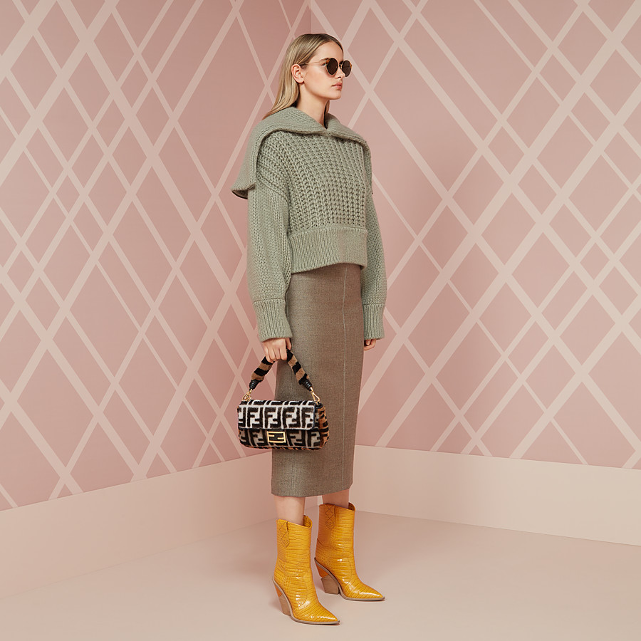 FENDI BLOUSE - Green wool pullover - view 4 detail