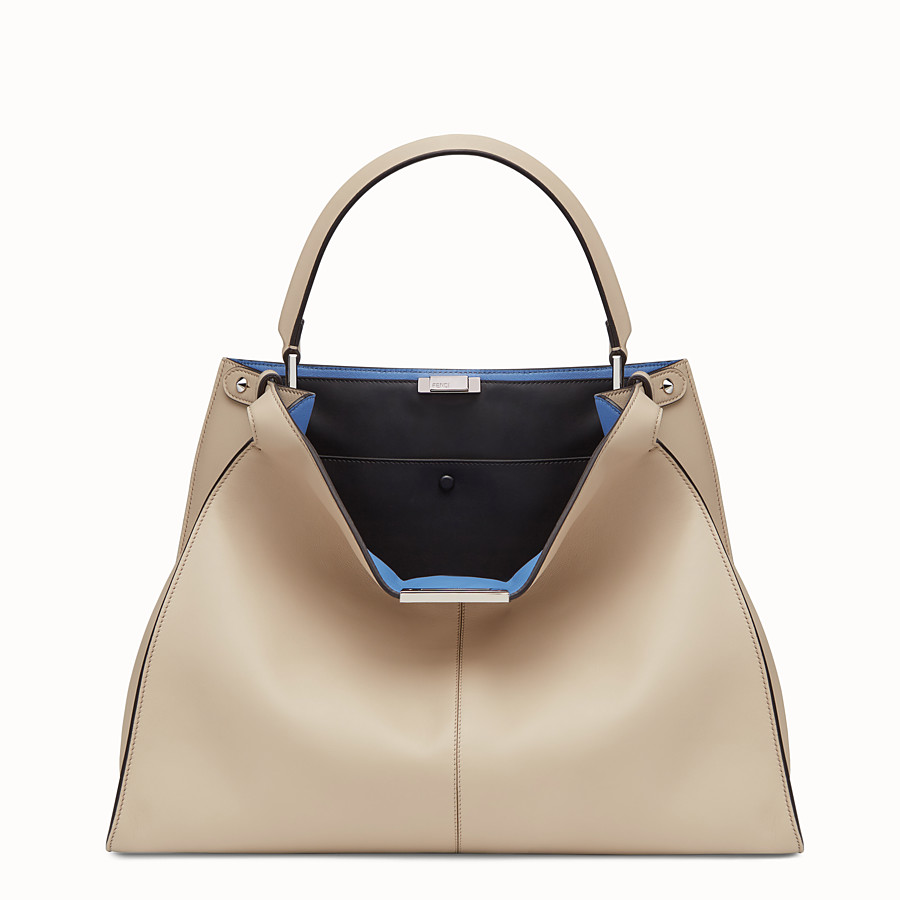 FENDI PEEKABOO X-LITE LARGE - Beige leather bag - view 2 detail