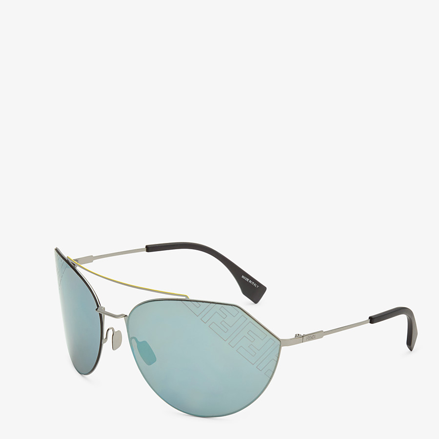 FENDI EYELINE 2.0 - Black and ruthenium sunglasses - view 2 detail