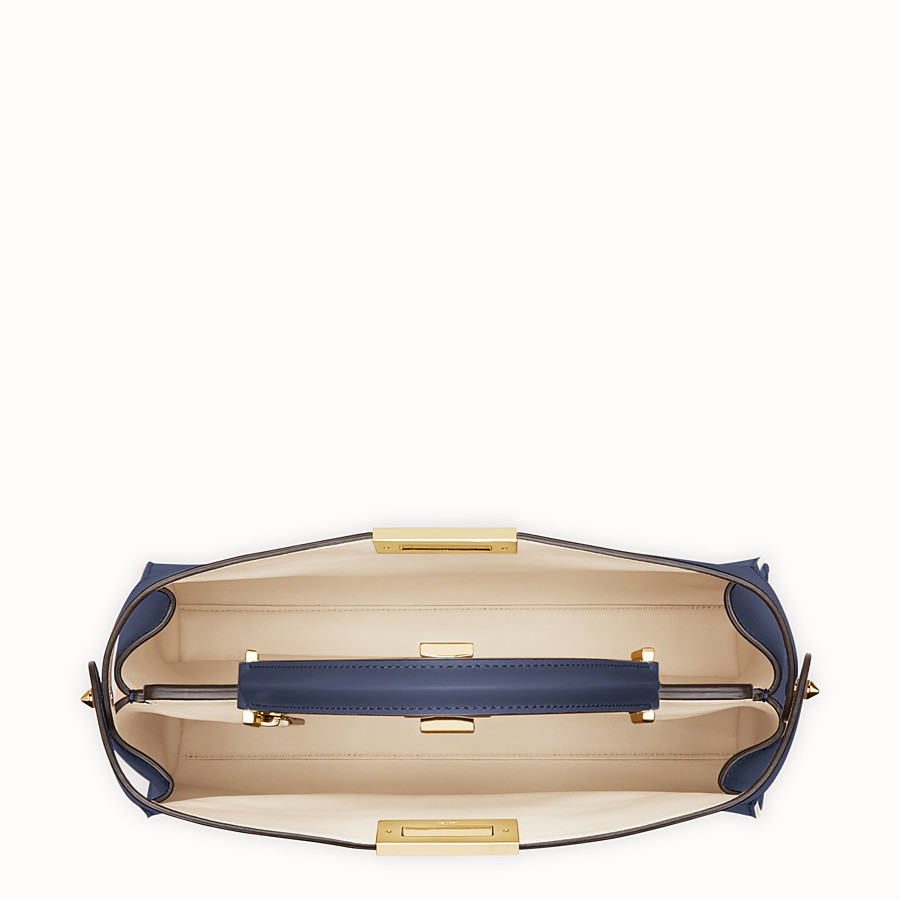 FENDI PEEKABOO ESSENTIAL - Blue leather bag - view 4 detail