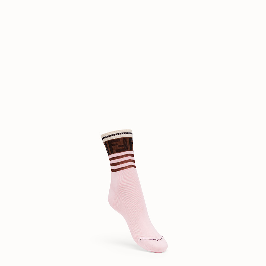 FENDI SOCKS - Multicolour cotton socks - view 1 detail