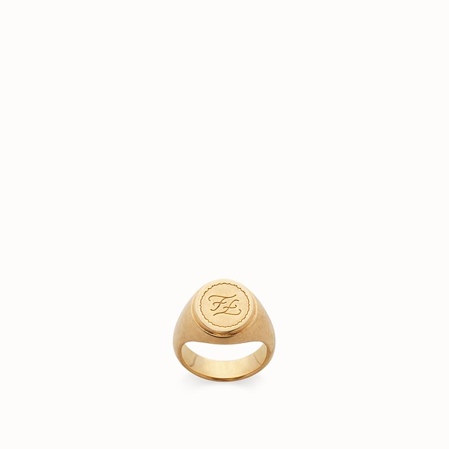 FENDI RING - Ring aus Metall in der Farbe Gold - view 1 detail