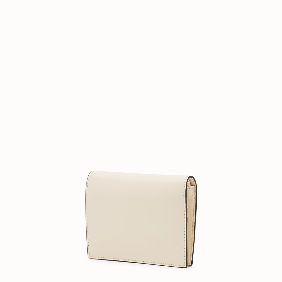 FENDI BIFOLD - White leather compact wallet - view 2 detail