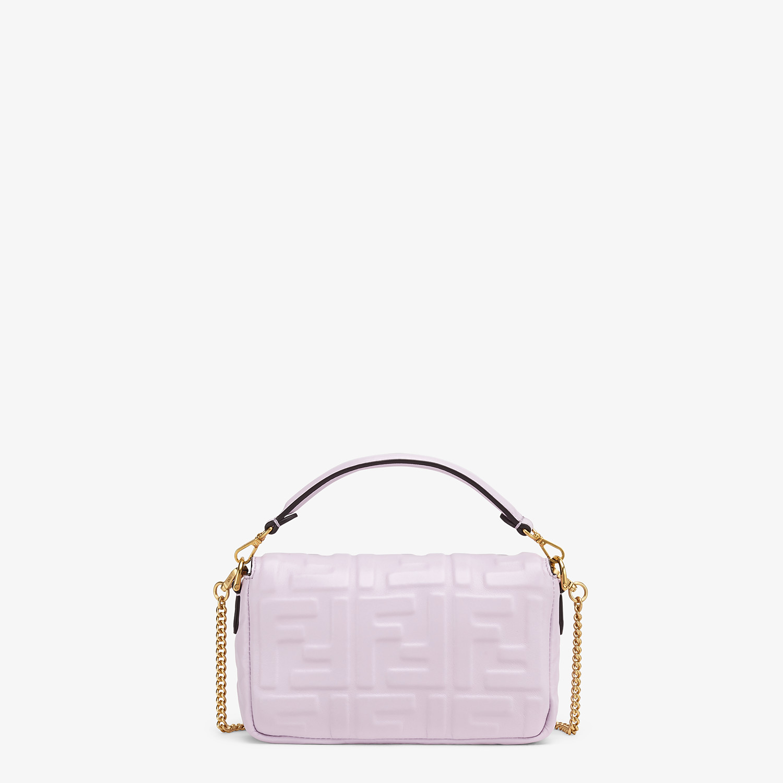 FENDI BAGUETTE - Lilac nappa leather FF Signature bag - view 4 detail