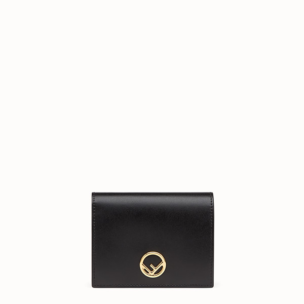 FENDI BIFOLD - Black compact leather wallet - view 1 small thumbnail