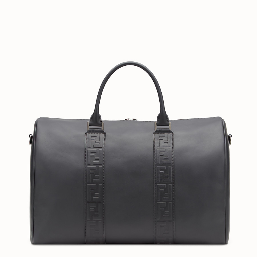 FENDI SATCHEL - Black leather bag - view 3 detail