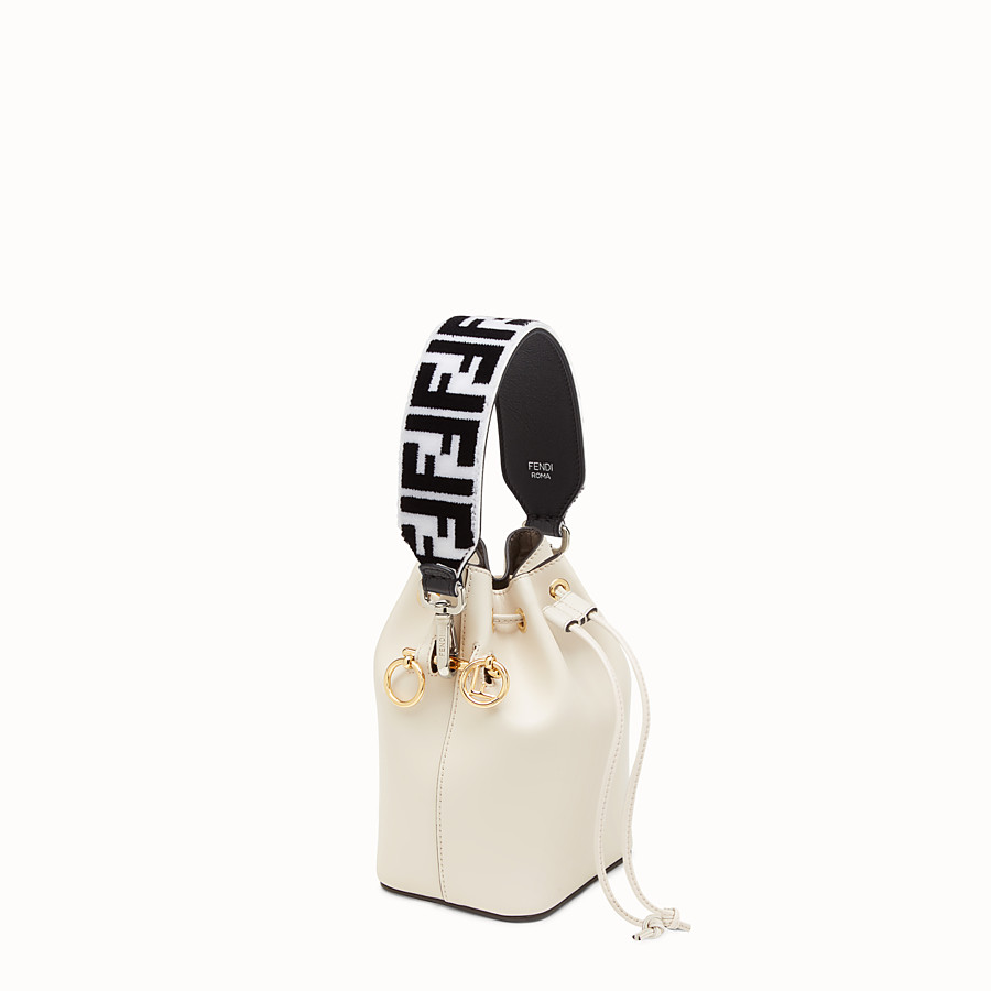 FENDI MINI STRAP YOU - Leather and fabric shoulder strap - view 2 detail