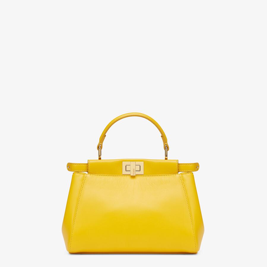 FENDI PEEKABOO ICONIC MINI - Yellow nappa leather bag - view 1 detail