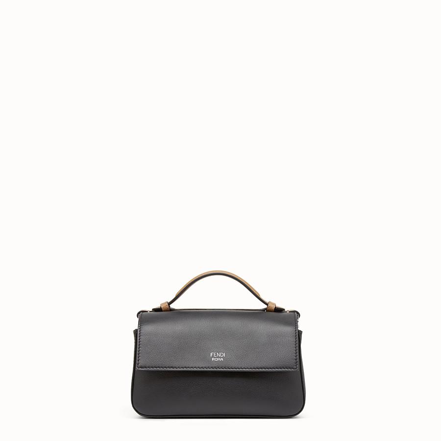 FENDI SAC DOUBLE MICRO BAGUETTE - Micro-sac en cuir vert et noir - view 3 detail