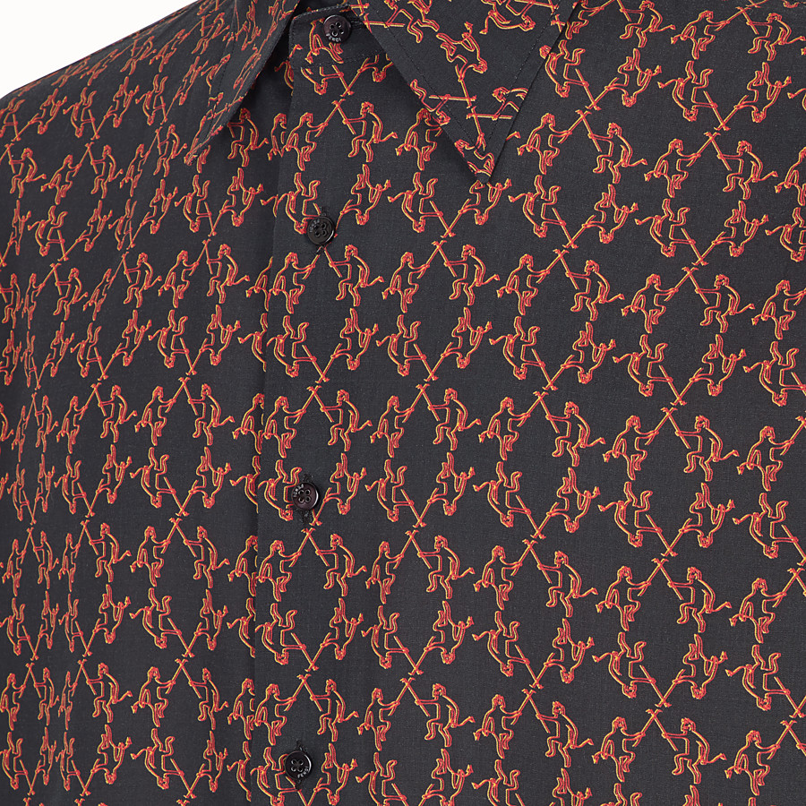 FENDI SHIRT - Black fabric shirt - view 3 detail