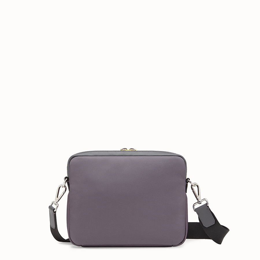 FENDI MESSENGER - Grey fabric and leather bag - view 3 detail