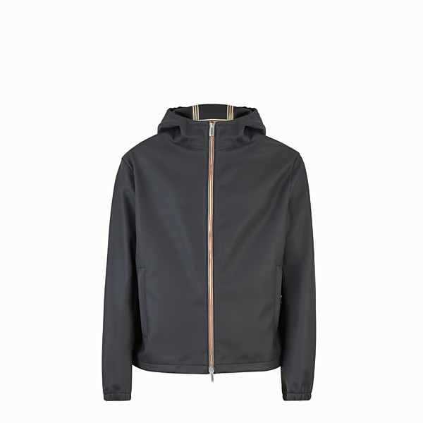 FENDI WINDBREAKER - Black fabric windbreaker - view 1 small thumbnail
