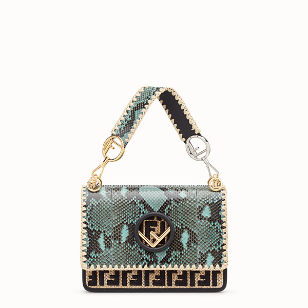 FENDI KAN I F - Green python bag - view 1 small thumbnail
