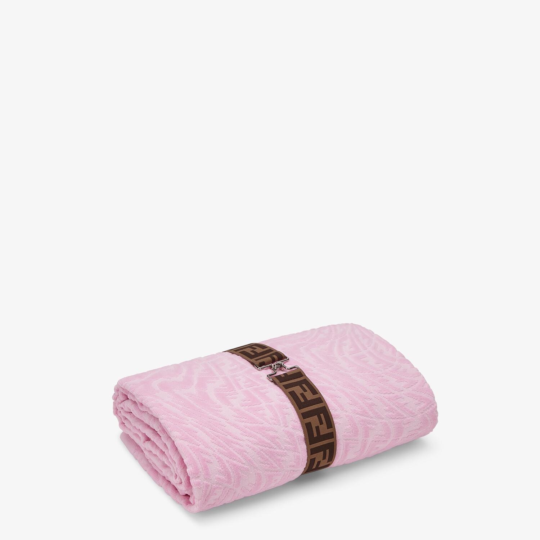 FENDI BEACH TOWEL - Pink fabric beach towel - view 1 detail