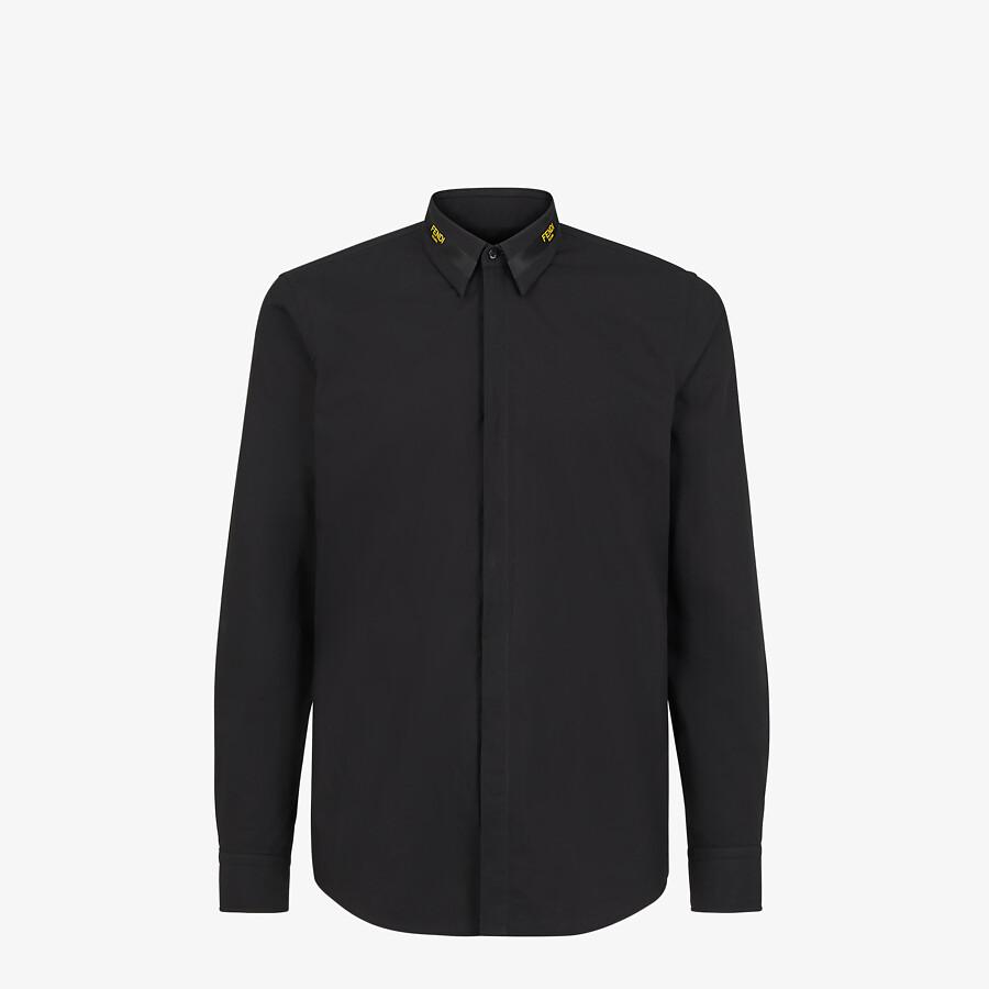 FENDI SHIRT - Black cotton shirt - view 1 detail