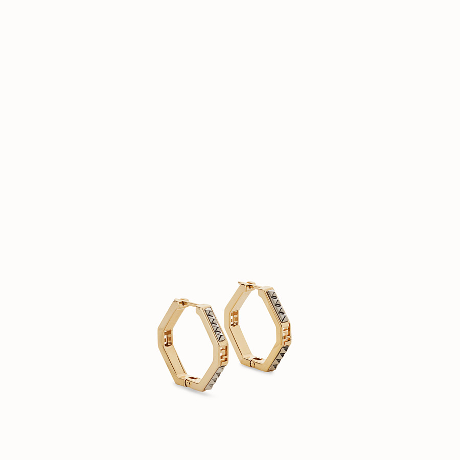 FENDI EARRINGS - Palladium and gold colour earrings - view 1 detail