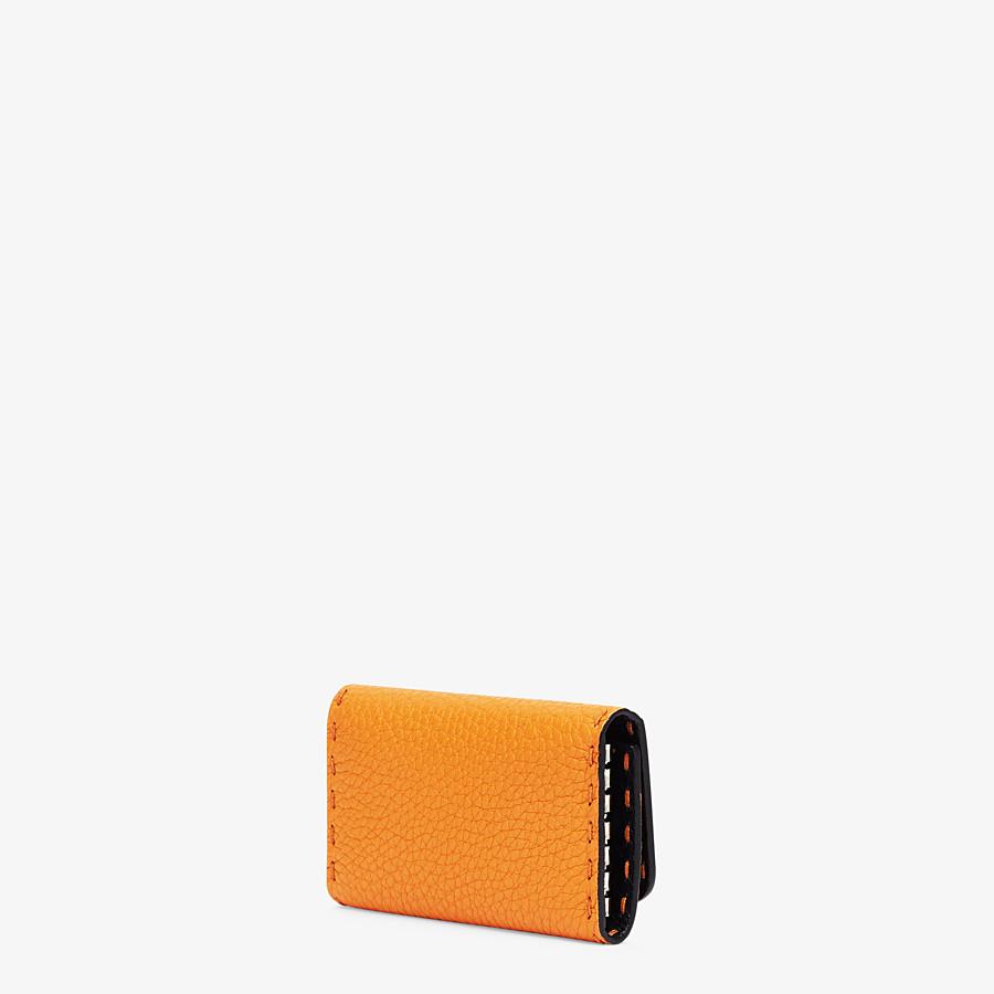 FENDI KEY RING - Orange leather pouch - view 2 detail