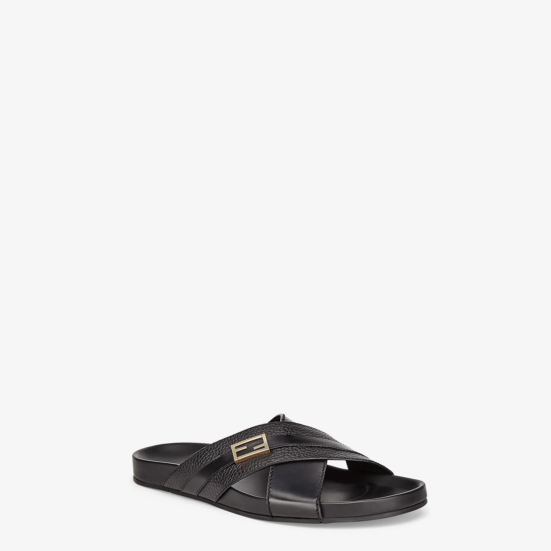 FENDI SANDALS - Black leather footbed - view 2 detail