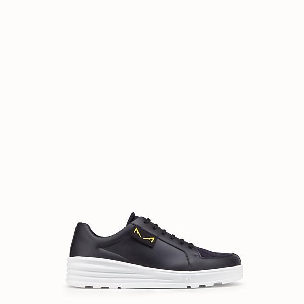 FENDI 運動鞋 - 黑色皮革低筒鞋 - view 1 小型縮圖